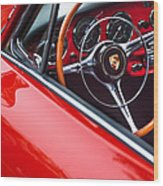 1964 Porsche 356 Carrera 2 Steering Wheel Wood Print