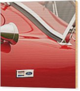 1964 Shelby Cobra 289 Street Roadster Emblem Wood Print