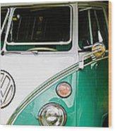 1964 Volkswagen Vw Samba 21 Window Bus Wood Print