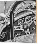 1965 Ac Cobra Steering Wheel Wood Print