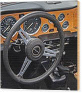1965 Austin Healey Interior Wood Print