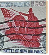 1965 Battle Of New Orleans Stamp Wood Print