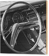 1965 Buick Riviera Steering Wheel Wood Print