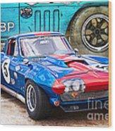 1965 Corvette Front View Wood Print