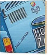 1965 Fiat Taillight Wood Print