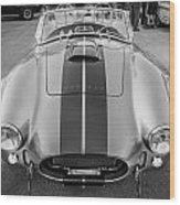 1965 Ford Ac Cobra Replica Painted Bw Wood Print