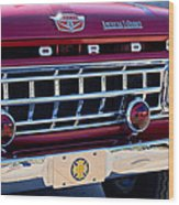 1965 Ford American Lafrance Fire Truck Wood Print