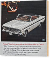 1965 Ford Falcon Ad Wood Print