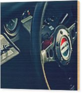 1965 Ford Gt 40 Steering Wheel Emblem Wood Print
