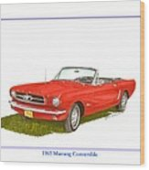 1965 Ford Mustang Convertible Pony Car Wood Print