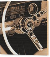 1965 Ford Mustang  Wood Print