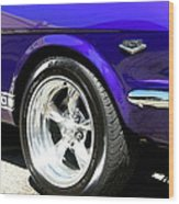 1965 Ford Mustang Gt350 Muscle Car Wood Print