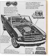 1965 Ford Mustang Performance Kits Wood Print