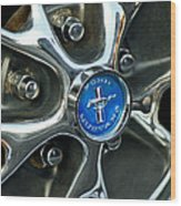 1965 Ford Mustang Wheel Rim Wood Print