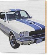 1965 Gt350 Mustang Muscle Car Wood Print