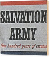 1965 Salvation Army Stamp Wood Print