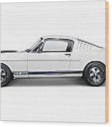 1965 Shelby Gt350 Mustang Retro Sports Car Wood Print