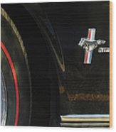 1965 Shelby Prototype Ford Mustang Emblem -0248c Wood Print