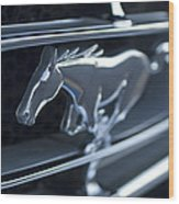 1965 Shelby Prototype Ford Mustang Grille Emblem 2 Wood Print
