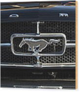 1965 Shelby Prototype Ford Mustang Hood Ornament Wood Print