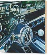 1965 Shelby Prototype Ford Mustang Steering Wheel Emblem 2 Wood Print