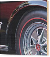 1965 Shelby Prototype Ford Mustang Wheel And Emblem Wood Print