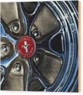 1965 Shelby Prototype Ford Mustang Wheel Wood Print