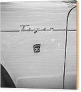 1965 Sunbeam Tiger 260 V8 Bw Wood Print