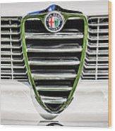 1966 Alfa Romeo Gtc Grille Emblem -1438c Wood Print