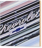 1966 Chevrolet Biscayne Front Grille Wood Print