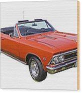1966 Chevrolet Chevelle Convertible 283  Wood Print