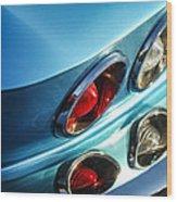 1966 Chevrolet Corvette Taillight -120c Wood Print