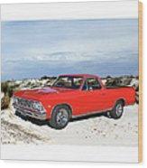 1966 Chevrolet El Camino 327 Wood Print