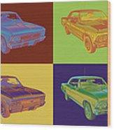 1966 Chevy Chevelle Ss 396 Car Pop Art Wood Print