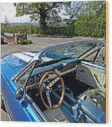 1966 Convertible Mustang On Tour In The Cotswolds Wood Print