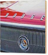 1966 Dodge Charger Grille Emblem Wood Print