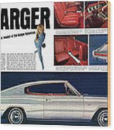 1966 Dodge Charger - New Leader Of The Dodge Rebellion Wood Print