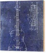 1966 Fender Acoustic Guitar Patent Drawing Blue Wood Print
