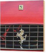 1966 Ferrari 330 Gtc Coupe Hood Emblem -0391c Wood Print