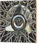 1966 Ferrari 330 Gtc Coupe Wheel Rim Emblem Wood Print