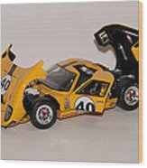 1966 Ford Gt40 - Diecast Wood Print