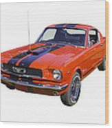 1966 Ford Mustang Fastback Wood Print