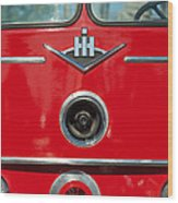 1966 International Harvester Pumping Ladder Fire Truck - 549 Ford Gas Motor Wood Print