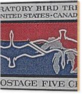 1966 Migratory Bird Treaty Stamp Wood Print
