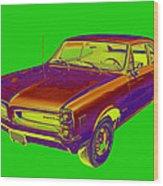 1966 Pointiac Lemans Car Pop Art Wood Print