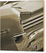 1966 Pontiac Gto Tail In Sepia Wood Print