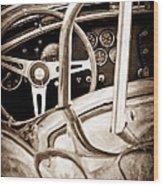 1966 Shelby 427 Cobra Steering Wheel Emblem Wood Print