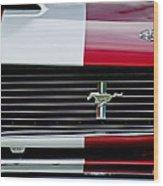 1966 Shelby Cobra Gt 350 Grille Emblem Wood Print