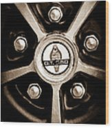 1966 Shelby Cobra Gt350 Wheel Rim Emblem Wood Print