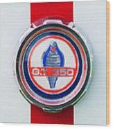 1966 Shelby Gt 350 Emblem Wood Print